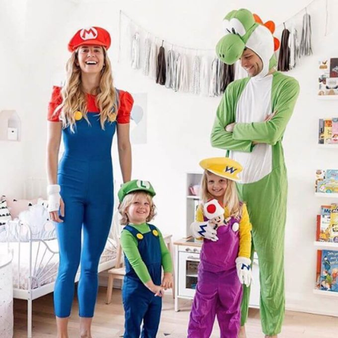 super mario family halloween costumes ideas