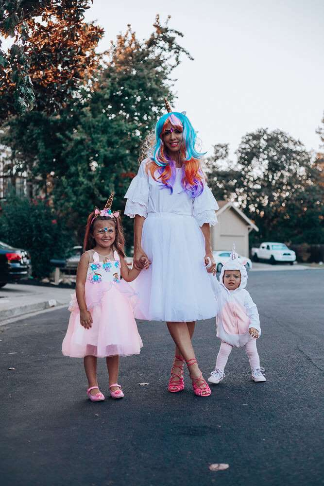 unicorn family halloween costumes ideas