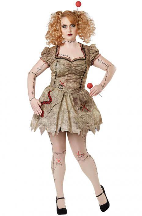 voodoo dolly homemade plus size halloween costume idea