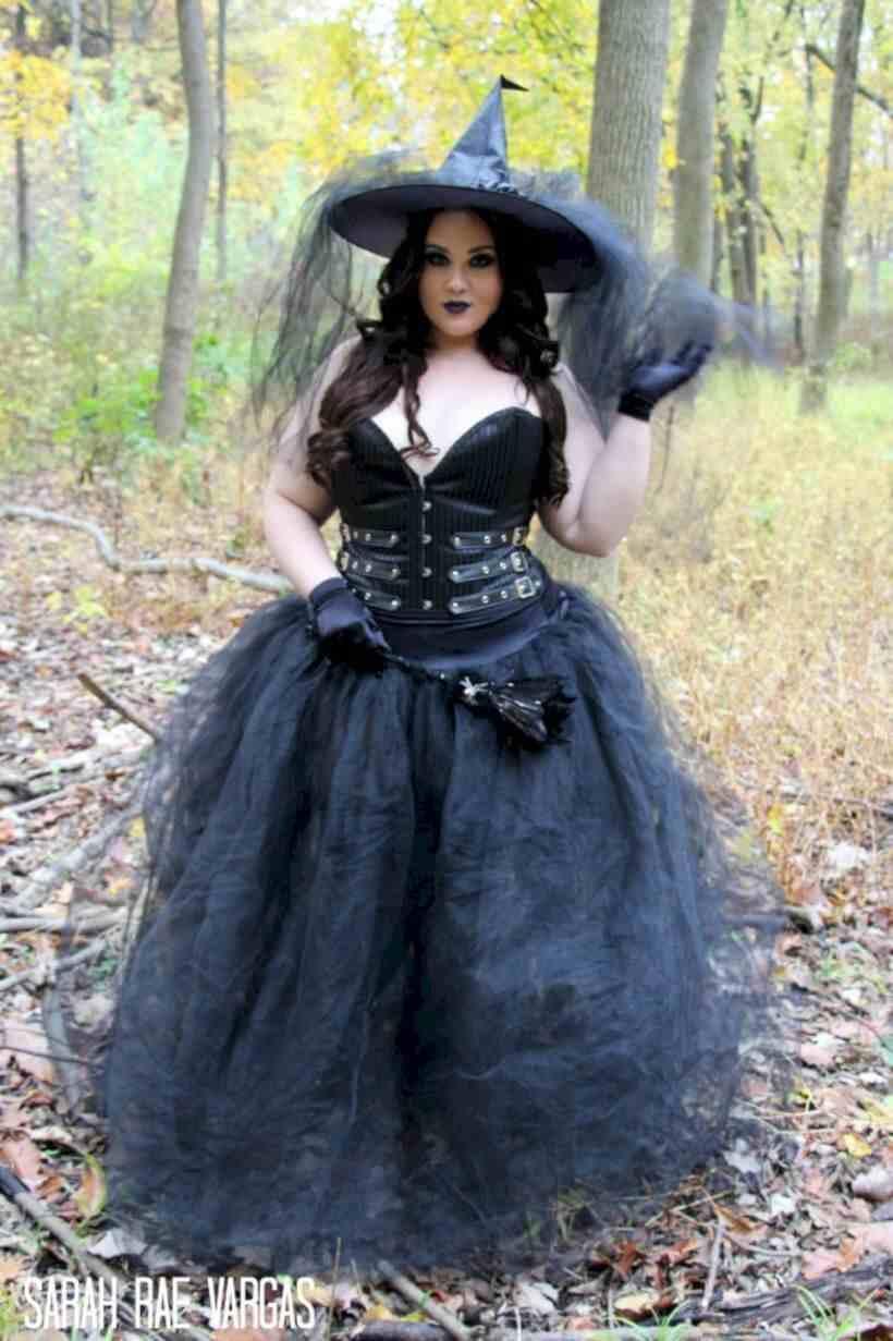 homemade witch halloween wedding plus size costume idea
