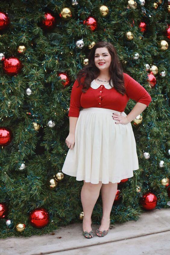 christmas party outfit fashion for plus size