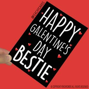 happy galentines day card image for bestie