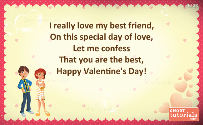 happy valentines day quote image for best friend